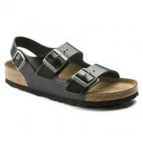 BIRKENSTOCK Unisex Milano Soft Footbed Amalfi Black Leather - 0234531