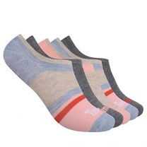 Timberland Women's 5-Pack No Show Liner Socks, Chambray Multi Stripe, One Size