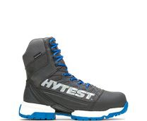 """Hytest FootRests 2.0 Charge Waterproof Nano Toe 8"""" Boot Grey/Blue - K24402"""