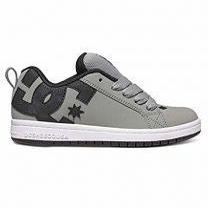 DC Kid's Court Graffik Leather Skate Sneakers