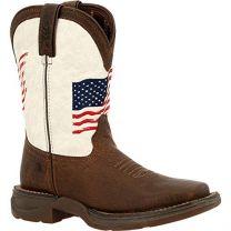 Durango Lil Little Kids Distressed Flag Western Boot