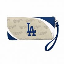 """LA Dodgers Women's Curve Zip Organizer Wallet, 8"""" x 4"""" 1"""""""