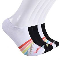 Timberland Women's 5-Pack No Show Liner Socks, Multi Mountain Stripe, One Size