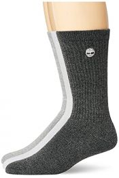 Timberland Women's 3-Pack Ribbed Full Comfort Boot Socks, Grey Multi, One Size