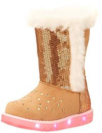 Skechers Kids Unisex-Child Faux Shearling Boot Mid Calf