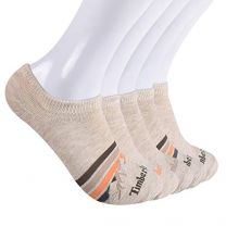 Timberland Women's 5-Pack No Show Liner Socks, Ivory Mountain Stripe, One Size