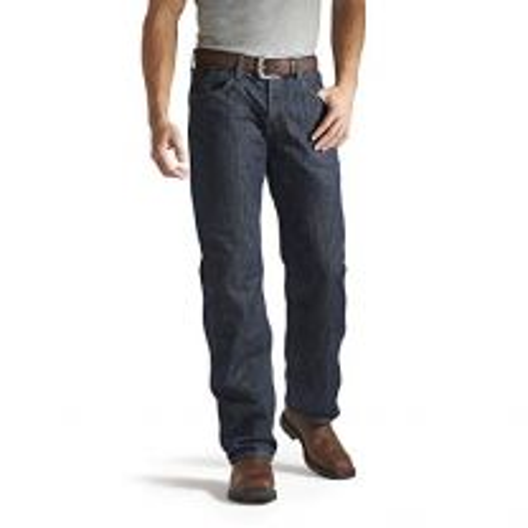 Ariat FR M3 Loose Basic Stackable Straight Leg Jeans - Men?s Fire Resistant Denim