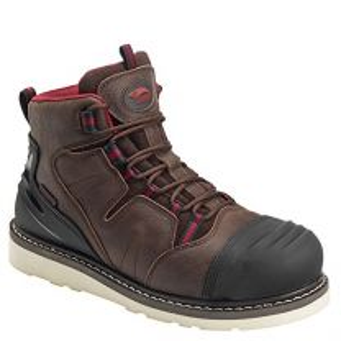 "Avenger Men's 6"" Leather Nanofiber Comp Toe Waterproof EH Wedge Boot"