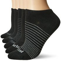 Timberland Ladies 5-Pair Pack Cotton Blend Black No Show Socks One Size (TB269545TA)