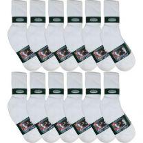 Knocker Men's Sports Crew Socks (Pack of 12 Pairs)