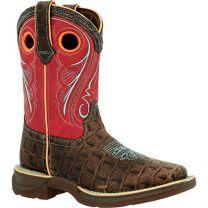 Durango Lil Little Kids Gator Emboss Western Boot
