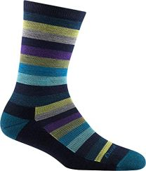 Darn Tough Women's Phat Witch Crew Lightweight with Cushion Sock Teal - 1644-DARK TEAL