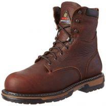 "Rocky FQ0006693 8"" IronCladBrnSogg MEDIUM 8 Work Boots Brown"