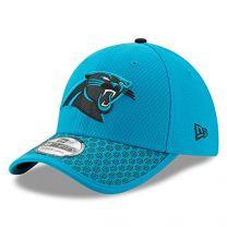 New Era Carolina Panthers Baseball Cap Hat NFL 2017 Sideline 39Thirty 11462144 Sky Blue