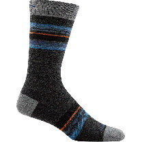 Darn Tough Men's Whetstone Crew Lightweight Sock Charcoal - 6009-CHARCOAL