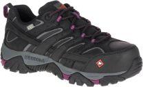 MERRELL WORK Women's Moab 2 WP Comp Toe Work Shoe Black/Black - J46652